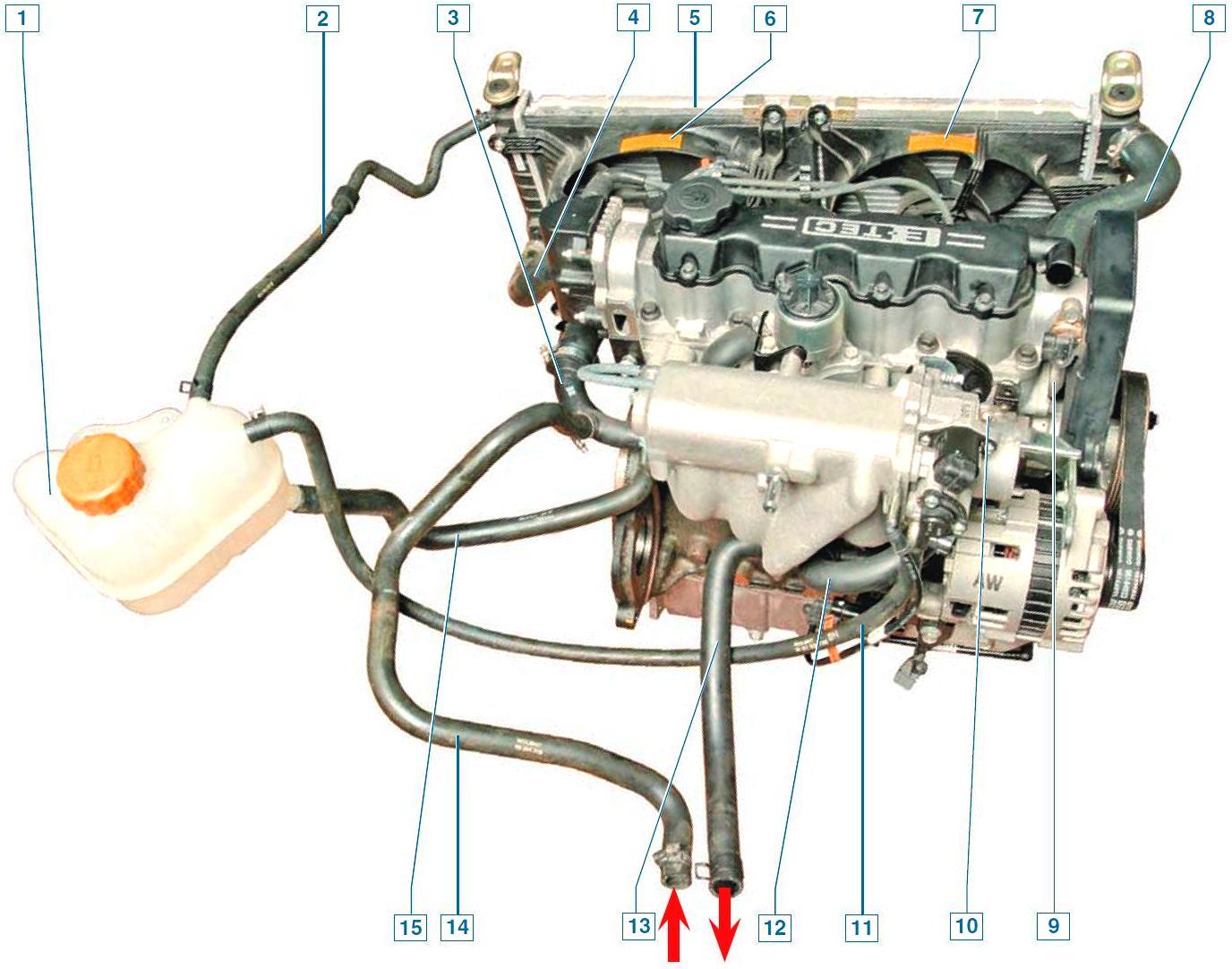 Система отопления ланос 1.5 схема фото 124